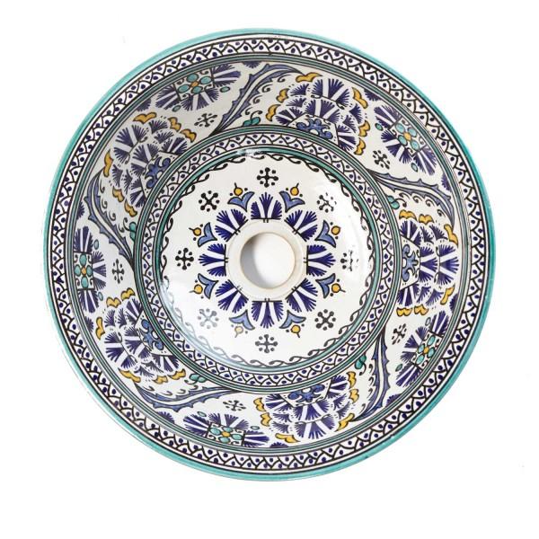 Orientalisches-Handbemaltes-Keramik-Waschbecken Fes88