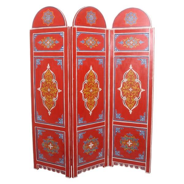 Marokkanischer Holz Paravent Vega