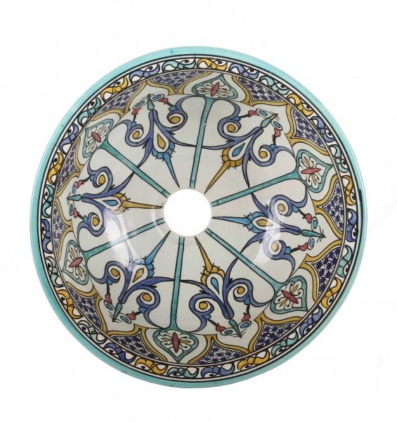 Orientalisches handbemaltes Keramik Waschbecken Fes122