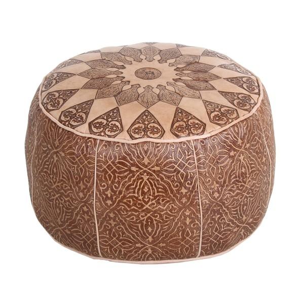 Orientalisches Leder-Sitzkissen Tamir