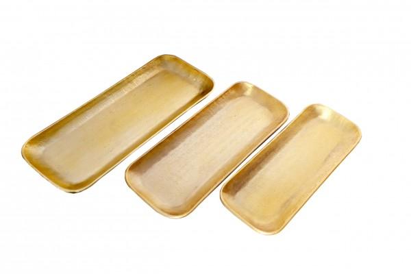 Tablett Valomi 3er Set Gold