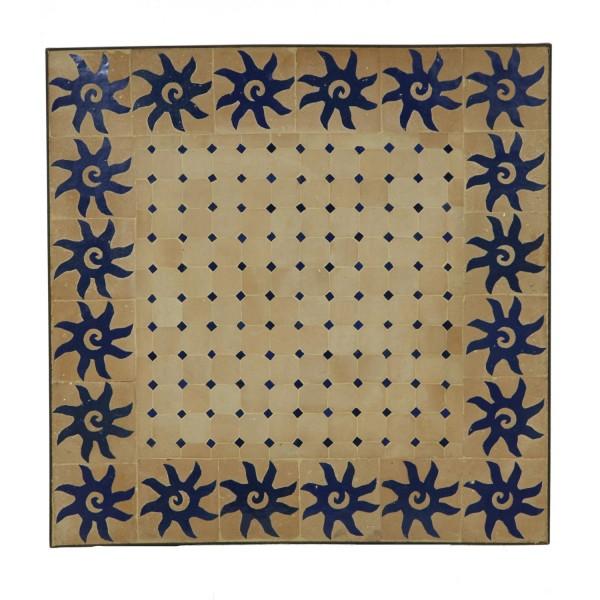 Couch-Mosaiktisch 60x60 Blau-Sonne