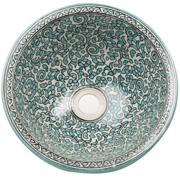 Marokkanisches Keramik-Waschbecken Fes123