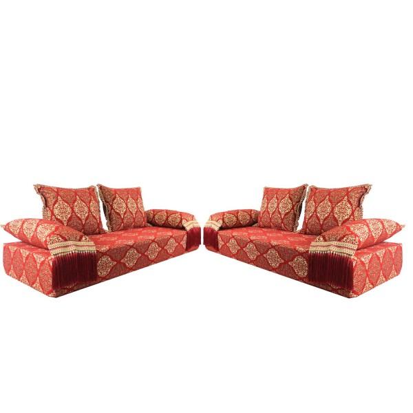 Orientalische Sitzecke Salma Rot 25 - Set