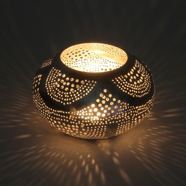 Orientalisches Windlicht Silberlaterne Nisanur