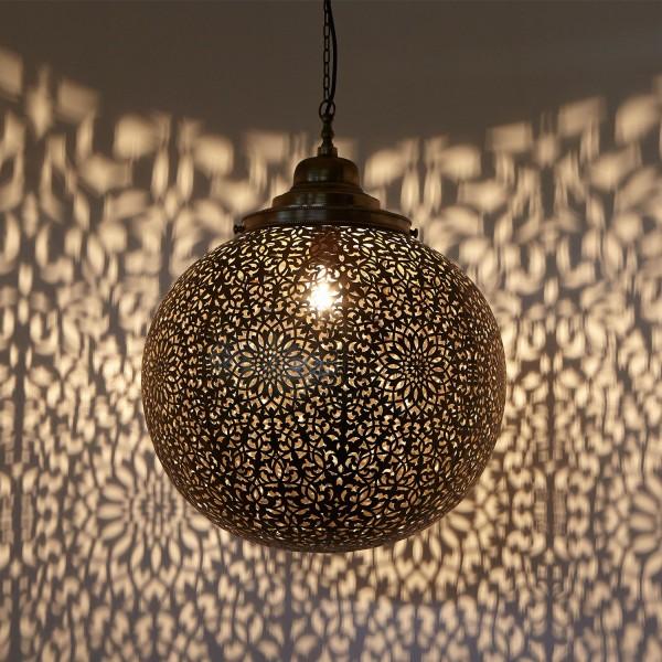 Messinglampe Medina