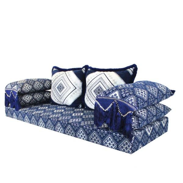 Orientalisches Sofa Oman Blau 15