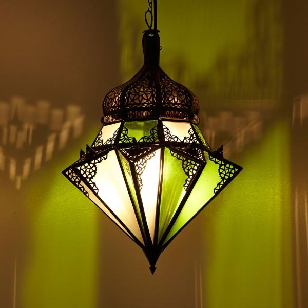 Hängeleuchte Jawhara Grün/Weiß