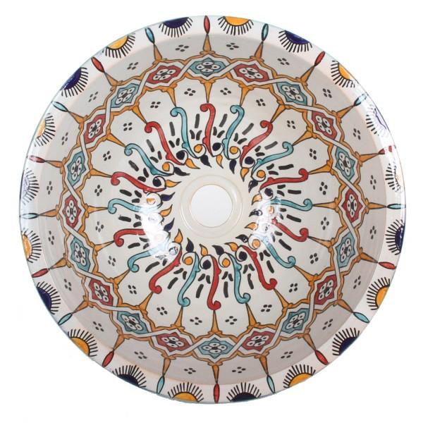 Orientalisches Handbemaltes Keramik Waschbecken Fes101