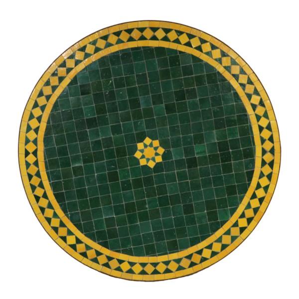 Mosaiktisch D80 Stern Grün Gelb