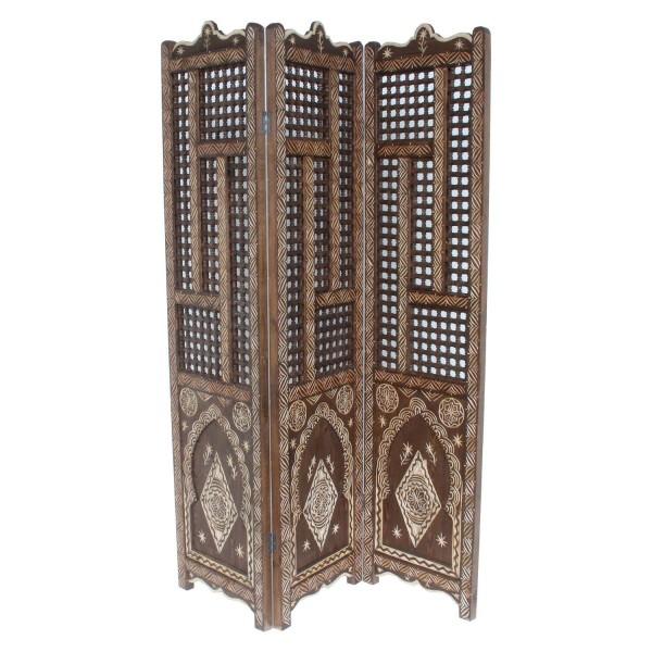 Orientalischer Holz Paravent Habel