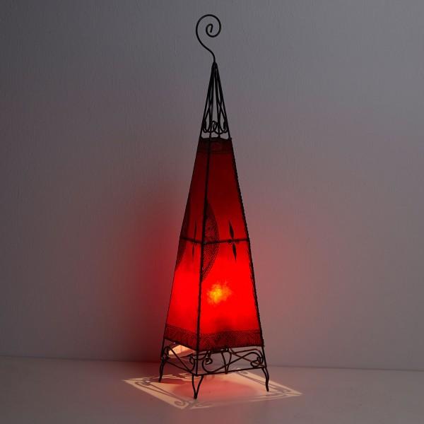 Lederlampe Zwina Rot
