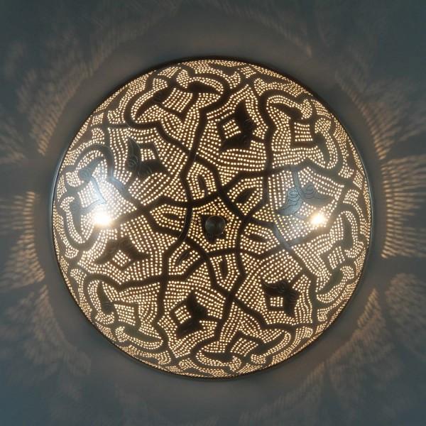 Ägyptische Silber-Wandlampe Benti D45
