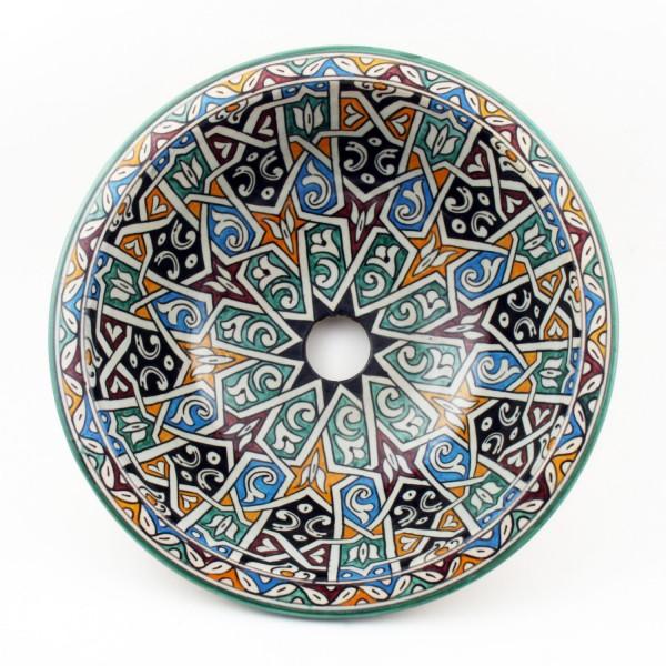 Orientalisches-Handbemaltes-Keramik-Waschbecken Fes33