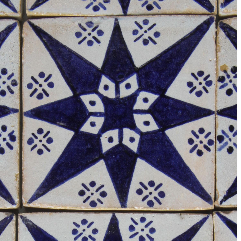 """Fliese Marokko Echte Handarbeit Orientalische Handbemalte Keramikfliese /""""Loubna/"""""""