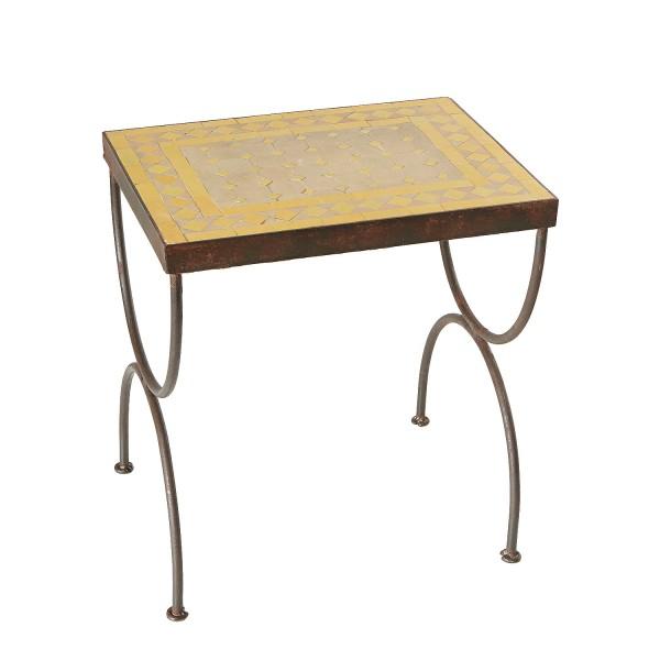Mosaik-Beistelltisch L50 Gelb/Terracotta
