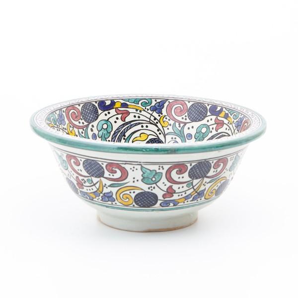 Orientalisches-Handbemaltes-Keramik-Waschbecken Fes90