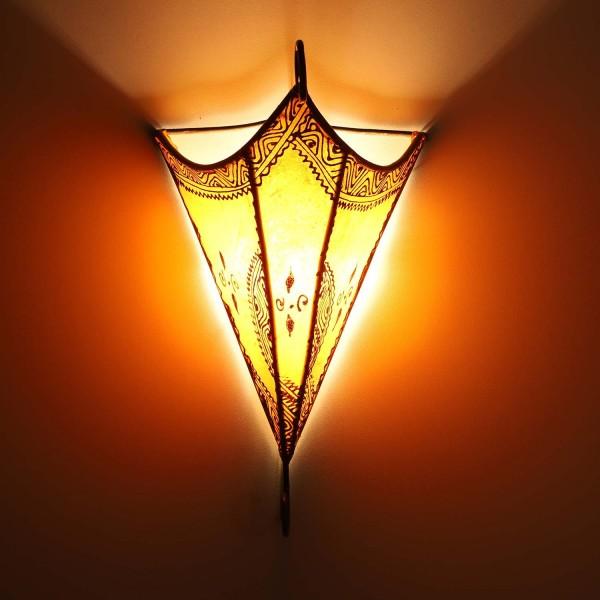 Marokkanische Leder Wandlampe Mouna