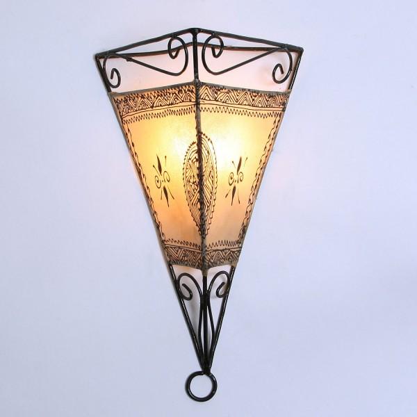 Leder-Wandlampe Emrah Natur