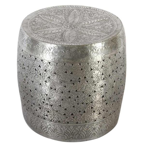 orientalischer Beistelltisch Silber Zarifa