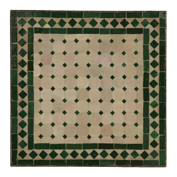 Mosaiktisch 80x80 cm Grün/Raute