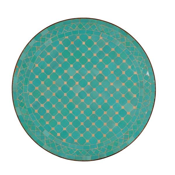 Mosaiktisch aus Marokko - Rund -M60-11