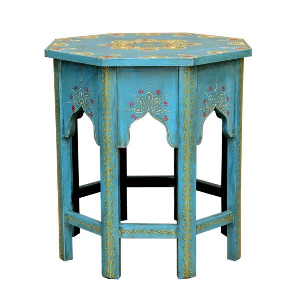 Orientalischer Beistelltisch Saada Blau XL