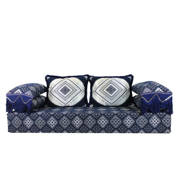 Orientalisches Sofa Oman Blau 25