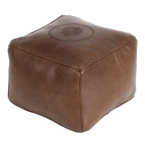 Marokkanische Leder Sitzkissen Gibril