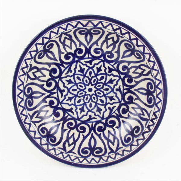 handbemalte Keramikschale aus Marokko F012