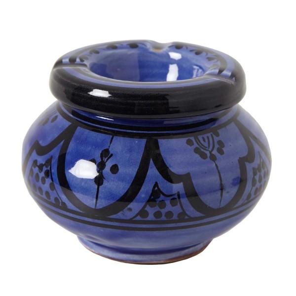 Keramik Aschenbecher blau