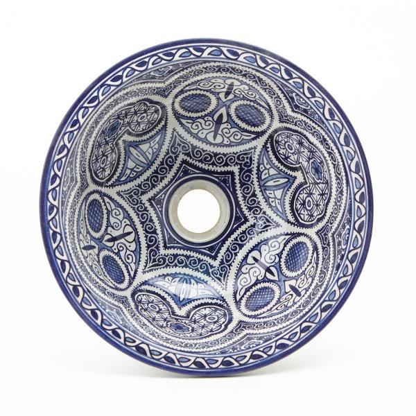 Orientalisches-Handbemaltes-Keramik-Waschbecken Fes69