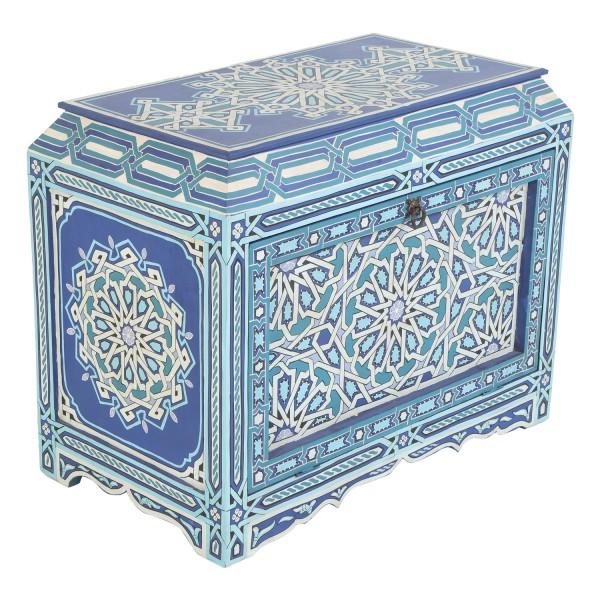 Marokkanische Holztruhe Basima