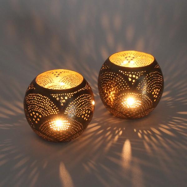 2 Orientalische Windlichter Silberlaternen Melis als Set