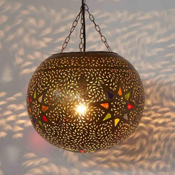 Marokkanische Messinglampe Ayla