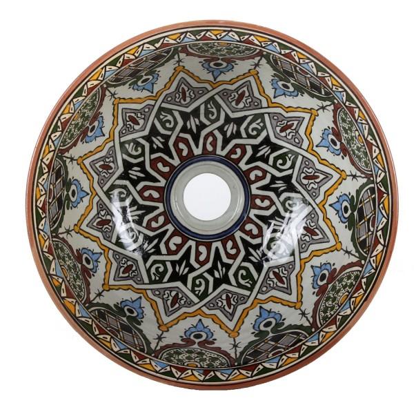 Orientalisches handbemaltes Keramik Waschbecken Fes110