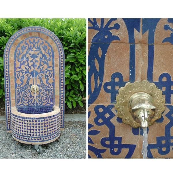 Mosaikbrunnen Tawus Blau