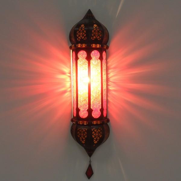 Marokkanische Wandlampe Ruya Rot