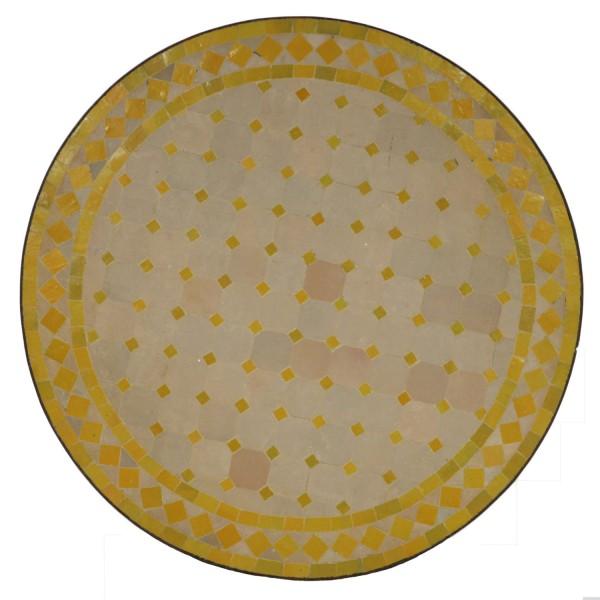 Mosaik Bistrotisch 70 cm Gelb/Raute