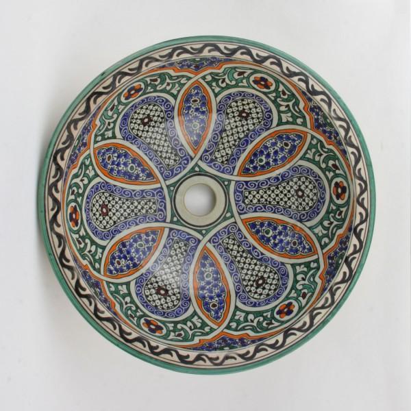 Orientalisches-Handbemaltes-Keramik-Waschbecken Fes65