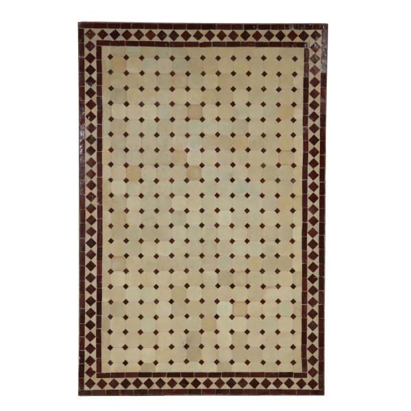 Mosaik-Esstisch 120x80 Bordeaux/Raute