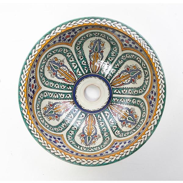 Orientalisches Handbemaltes Keramik Waschbecken Fes109