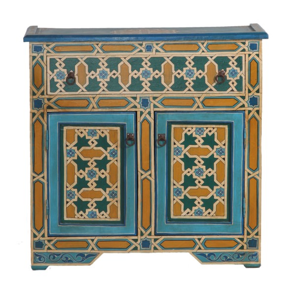 Marokkanische Antik-Kommode Mosaik