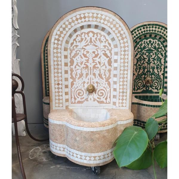 Marokko-Mosaikbrunnen Asfor Weiss