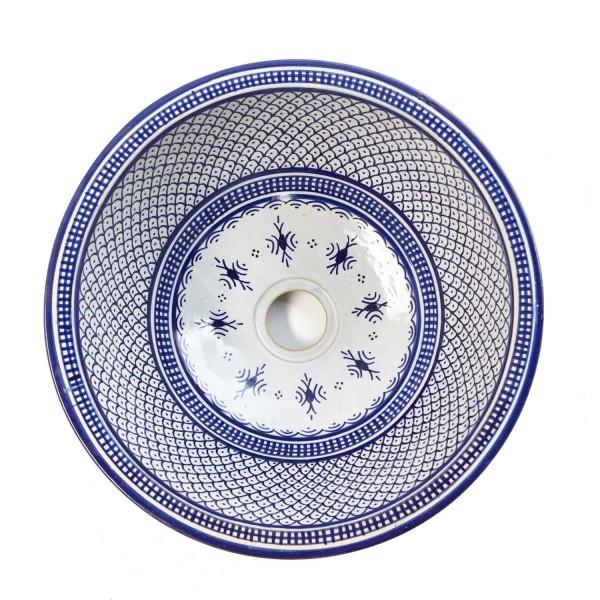 Orientalisches-Handbemaltes-Keramik-Waschbecken Fes89