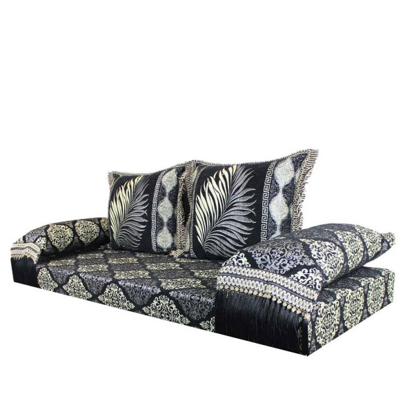 Orientalisches Sofa Salma Schwarz 15