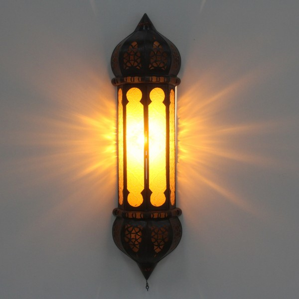 Marokkanische Wandlampe Ruya Gelb