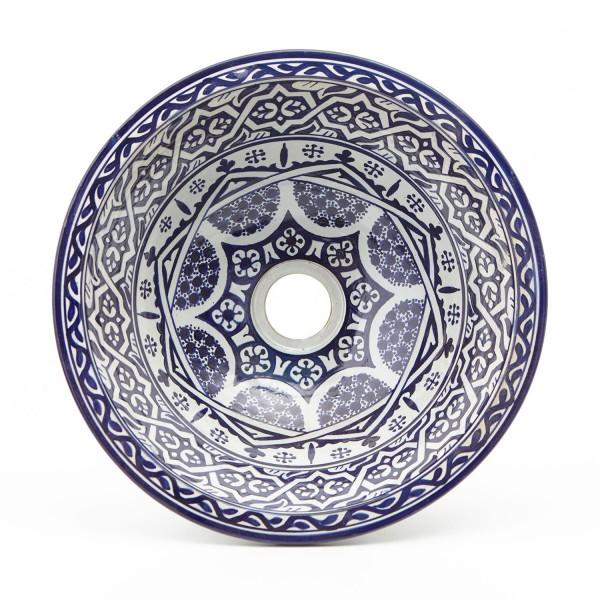 Orientalisches-Handbemaltes-Keramik-Waschbecken Fes127