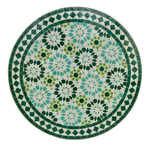 Mosaik Bistrotisch Rund 70 cm Ankabut-Türkis