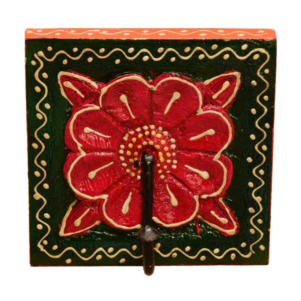 Orientalischer Kleiderhaken Kadira Grün-Rot